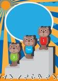 熊爱鼻子123 abc盖子 免版税库存图片