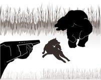 熊狩猎 图库摄影