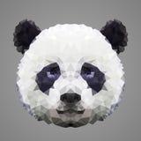 熊猫低多画象 免版税库存图片