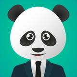 熊猫具体化佩带的衣服 库存图片