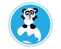 熊猫冲浪 图库摄影