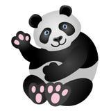 熊猫吉祥人 它坐并且微笑着 免版税库存图片