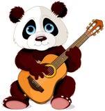 熊猫吉他弹奏者 库存图片