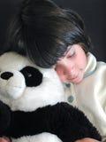 熊猫女用连杉衬裤 免版税库存图片