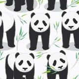 熊猫无缝的样式 皇族释放例证
