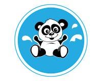 熊猫沐浴 免版税库存照片