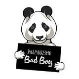 熊猫罪犯 囚犯,证明有罪 狗罪犯 警察张贴,警察面部照片,联盟 拘捕照片 面部照片照片 向量 向量例证