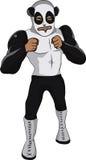 熊猫滑稽战斗机的动画片 免版税库存图片