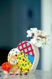 熊玩具和心脏 免版税库存图片