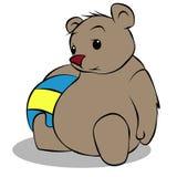 熊玩具 向量例证