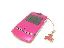 熊电话粉红色 免版税库存图片