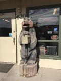 熊的雕塑运载 库存图片