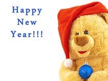 熊盖帽圣诞节玩具 库存照片