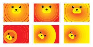 熊看板卡逗人喜爱的例证 免版税库存图片