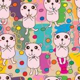 熊糖五颜六色的无缝的样式 皇族释放例证
