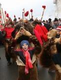 熊舞蹈游行 免版税图库摄影