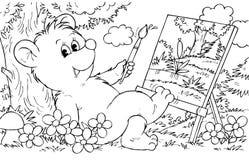 熊艺术家 库存图片
