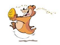熊蜂蜜 皇族释放例证