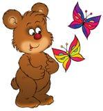 熊蝴蝶 向量例证