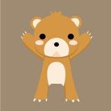 熊褐色 库存例证