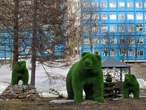 熊计算风景设计的元素在中央squa的 库存图片