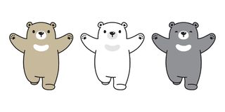 熊象传染媒介女用连杉衬裤北极熊跑的商标女用连杉衬裤卡通人物例证乱画 向量例证