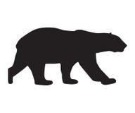 熊象黑色剪影 免版税图库摄影