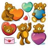 熊逗人喜爱的华伦泰 免版税库存图片