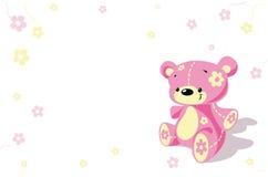熊逗人喜爱的桃红色女用连杉衬裤 皇族释放例证