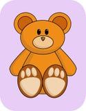 熊逗人喜爱的桔子 免版税库存照片