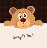 熊配件箱文本 免版税图库摄影