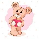 熊重点粉红色女用连杉衬裤 对打印在T恤杉 皇族释放例证