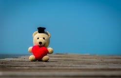 熊重点红色女用连杉衬裤 库存图片