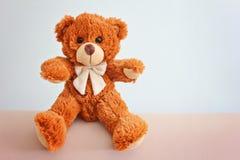 熊长毛绒女用连杉衬裤玩具 免版税图库摄影