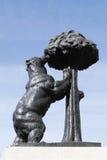 熊马德里雕象 免版税库存图片