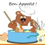 熊-厨师 库存图片