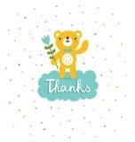 熊说感谢 图库摄影