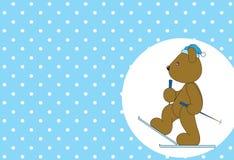 熊滑稽和被切开的动物 免版税库存图片