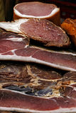 熏制的猪肉烟肉5部分  免版税图库摄影