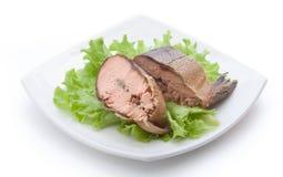 熏制的罗锅三文鱼 免版税图库摄影