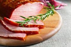 熏制的肉 免版税库存图片