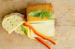 熏制的装满凝固肥油的乳酪5 免版税库存图片