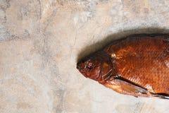 熏制的鱼特写镜头 免版税库存图片