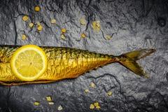 熏制的鲭鱼 免版税库存图片