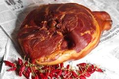 熏制的cowleg和匈牙利红色辣椒粉 免版税库存照片