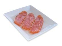 熏制鲑鱼西班牙塔帕纤维布  库存图片