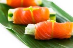 熏制鲑鱼 免版税图库摄影
