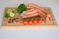 熏肉香肠香肠, Wienerwurst,食物,德国熏肉香肠香肠,熏肉香肠香肠 免版税库存图片