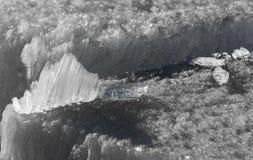 熔化冰的水晶 图库摄影