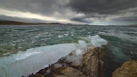 熔化在湖的冰 股票视频
